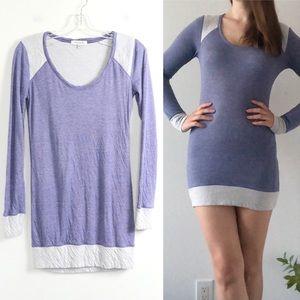 Talula Aritzia lilac pastel purple tunic dress euc